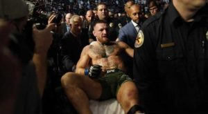 """""""This isn't over,"""" said McGregor after suffering a horrific leg injury."""
