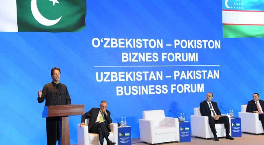 Imran Khan along with his Uzbek counterpart participate in the Business Forum
