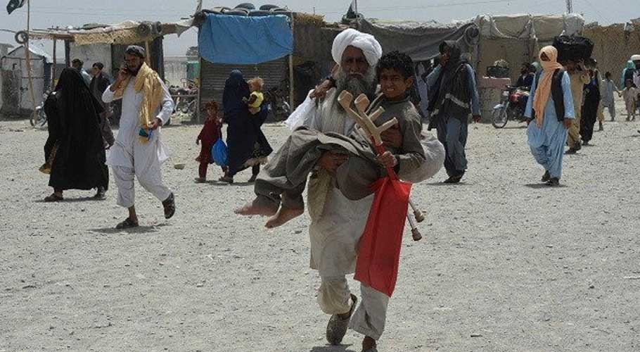 Thousands of Afghans were left stranded in the town of Chaman