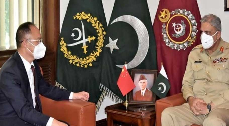 """The Chinese ambassador and army chief stressed the need to """"thwart designs of all inimical forces"""