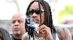 The rapper is the latest celebrity to reveal that he has tested positive for COVID-19.
