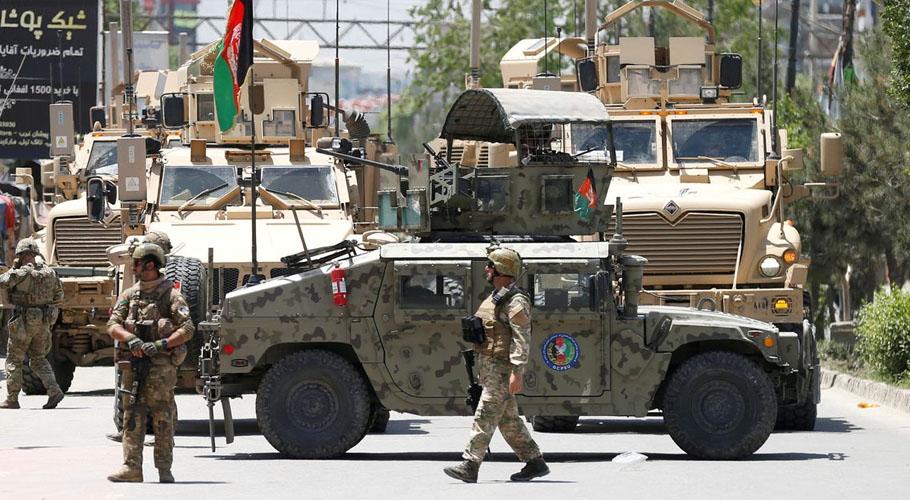 Afghan forces began air strikes against Taliban fighters. Source: Reuters.