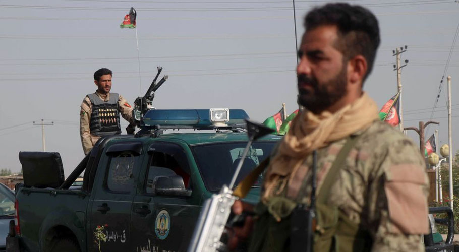 Afghan security forces keep watch at a checkpoint in the Guzara district of Herat province. Source: Reuters
