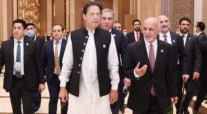 Prime Minister Imran Khan and President Ashraf Ghani meet in Tashkent. Source: APP