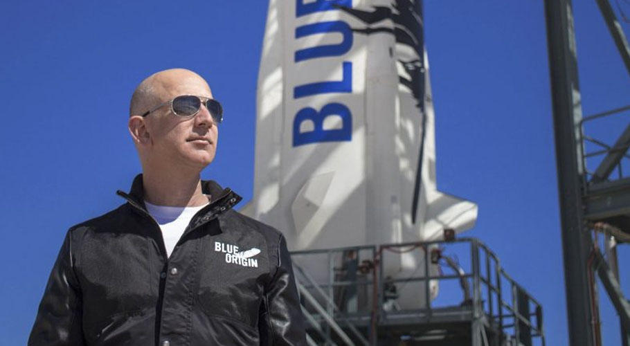 Jeff Bezos is set to join the astronaut club on the first crewed launch by Blue Origin. Source: AFP