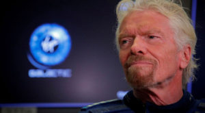 Richard Branson will travel to the edge of space on Virgin Galactic test flight. Source: Reuters