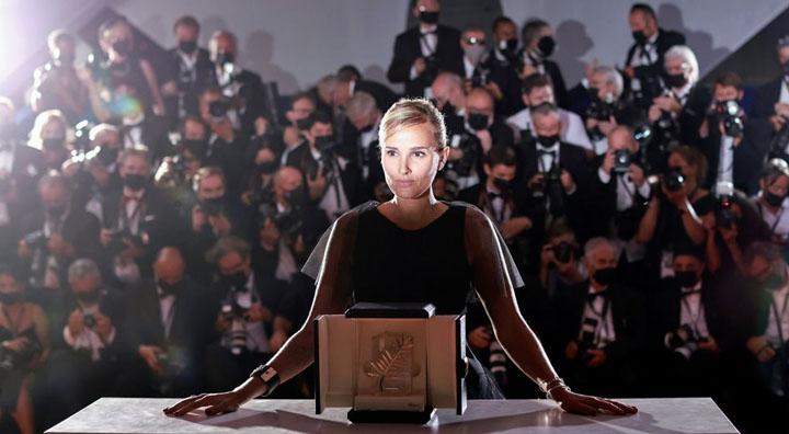 "Director Julia Ducournau, Palme d'Or award winner for the film ""Titane"", poses. Source: Reuters"