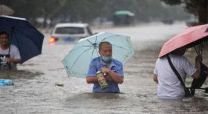 Henan was hit by heavy rains since weekend, provincial capital Zhengzhou flooded. Source: Reuters.