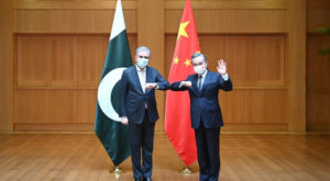 Foreign Minister Shah Mahmood Qureshi paid a two-day visit to China. Source: PID