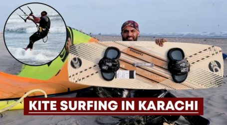 Meet Badar Raees, chemical engineer turned kite surfer at Karachi beach