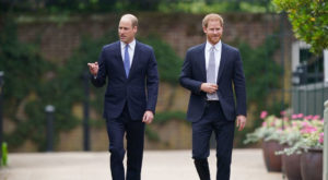 Britain's Prince William and Prince Harry attend the unveiling of a statue they commissioned of their mother Diana. Source: Reuters