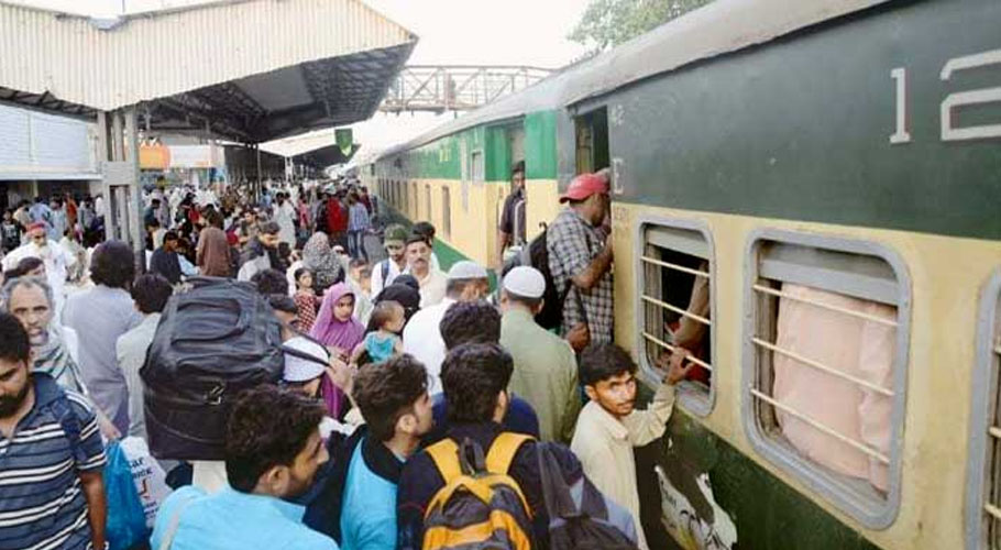 Passengers of trains, who were supposed to be departing from Karachi today at 6 am, are still waiting at the station as their train is delayed for 5 hours.