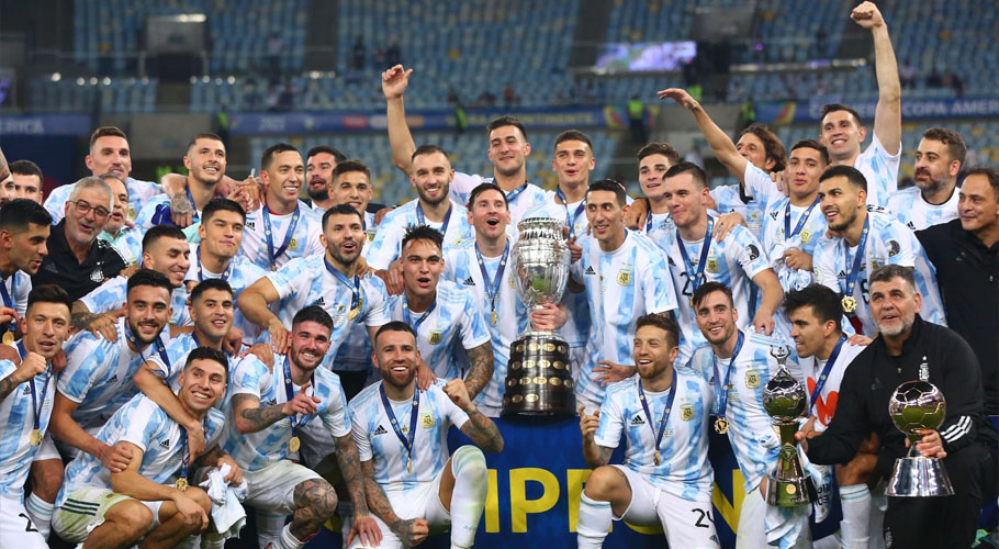 Argentina won their first major title in 28 years. Source: Barcacentre