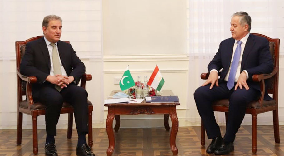 The foreign ministers of Pakistan and Tajikistan meet in Dushanbe. Source: PID.