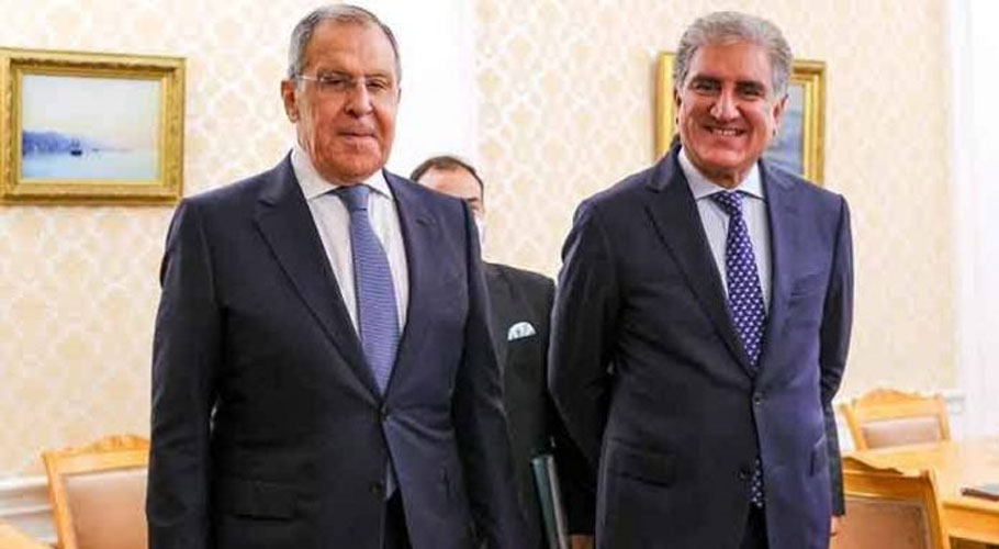 Foreign Minister Shah Mahmood Qureshi met his Russian counterpart Sergei Lavrov. Source: APP