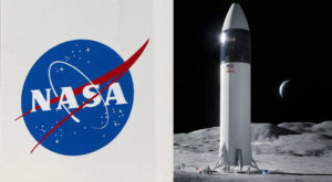 In April, NASA awarded SpaceX a contract to build such a spacecraft as early as 2024. Source: NASA/Reuters.